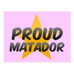 Matador orgulloso tarjeta postal