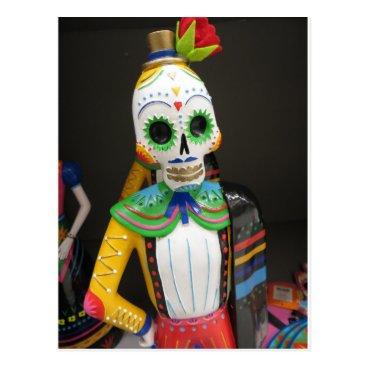 Beach Themed Matador Skeleton Postcard