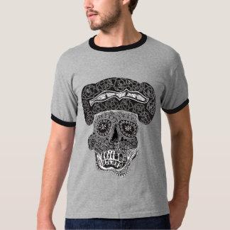 Matador Skull Black & Grey Ringer T Shirt