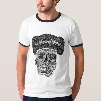 Matador Skull Black & White Ringer T Shirt