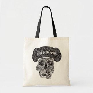 Matador Skull blak handle tote bag