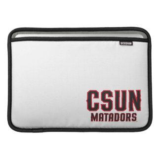 Matadores de CSUN - negro con el esquema rojo Funda MacBook