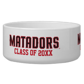 Matadors with Class Year - Gray Outline Bowl