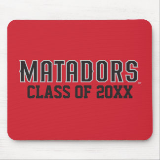 Matadors with Class Year - Gray Outline Mouse Pad