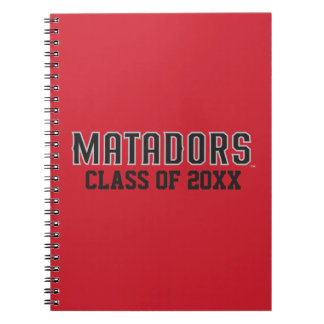 Matadors with Class Year - Gray Outline Notebook
