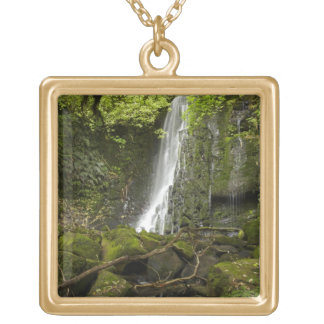 Matai Falls, Catlins, South Otago Gold Plated Necklace