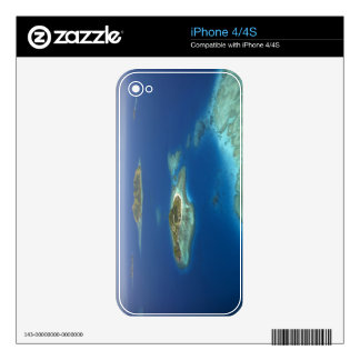 Matamanoa Island and coral reef, Mamanuca Island Decals For The iPhone 4