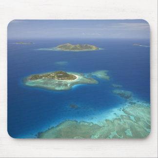 Matamanoa Island and coral reef, Mamanuca Island Mouse Pad