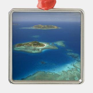 Matamanoa Island and coral reef, Mamanuca Island Christmas Ornament