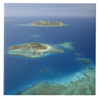 Matamanoa Island and coral reef, Mamanuca Island Tile