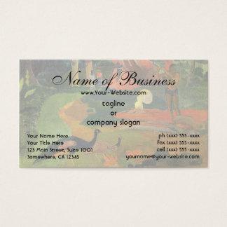 Matamoe (Landscape w Peacocks) by Paul Gauguin Business Card