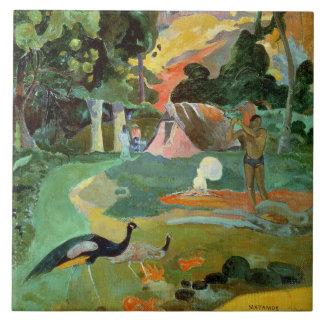 Matamoe o, paisaje con los pavos reales, 1892 azulejos ceramicos