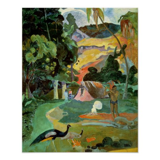 Matamoe or, Landscape with Peacocks, 1892 Poster