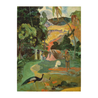 Matamoe or, Landscape with Peacocks, 1892 Wood Print