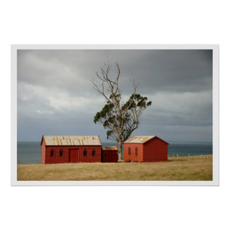Matanaka Farm Buildings Privy Schoolhouse Poster