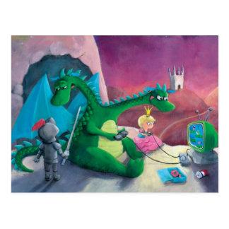 Matando el dragón (es duro) postal