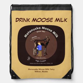 Matanuska Moose Milk Drawstring Backpack