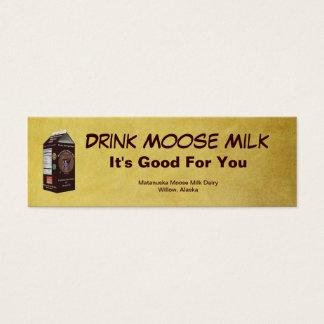 Matanuska Moose Milk Mini Business Card