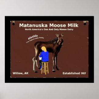 Matanuska Moose Milk Poster