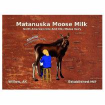 Matanuska Moose Milk Statuette