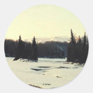 Matanuska River #02, (C) Jack Taylor Classic Round Sticker