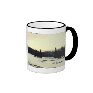 Matanuska River Winter Ringer Mug