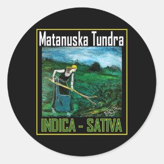 MATANUSKA TUNDRA INDICA SATIVA STICKER