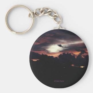 Matanuska Valley Sunset Basic Round Button Keychain