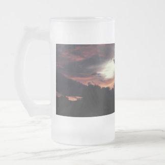 Matanuska Valley Sunset Frosted Glass Beer Mug