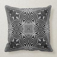 Matanya : Dark Silver Celtic Tribal Cushion Throw Pillows