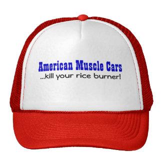 Matanza americana de los coches del músculo… su ho gorros