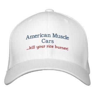 Matanza americana de los coches del músculo… su ho gorra de beisbol bordada