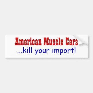 ¡Matanza americana de los coches del músculo… su i Pegatina Para Auto