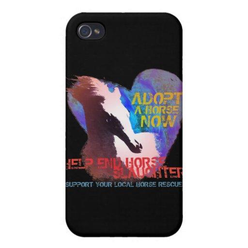 Matanza del caballo de la parada de la ayuda iPhone 4 carcasa