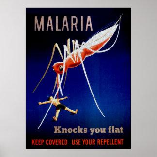 Matanzas de la malaria póster