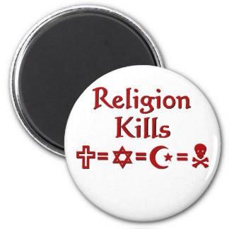 Matanzas de la religión imán redondo 5 cm