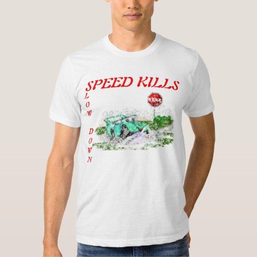 Matanzas de la velocidad del retraso remera