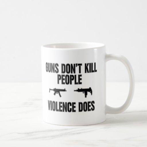Matanzas de la violencia taza básica blanca