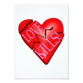 """Matanzas del amor invitación 5"""" x 7"""""""