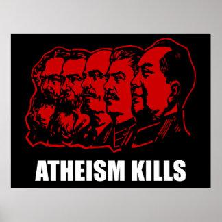 Matanzas del ateísmo póster