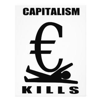 Matanzas del capitalismo flyer a todo color