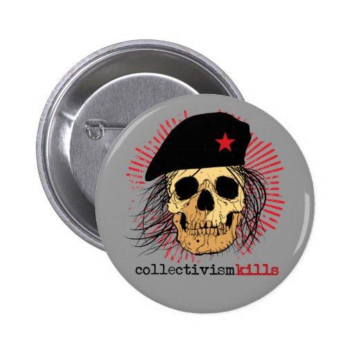 Matanzas del colectivismo pin redondo 5 cm