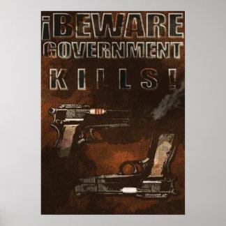 Matanzas del gobierno poster