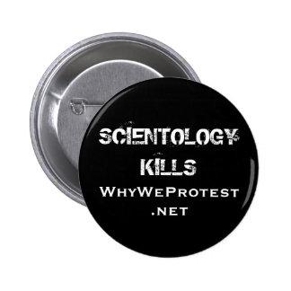 MATANZAS del SCIENTOLOGY, WhyWeProtest.net Pin Redondo De 2 Pulgadas