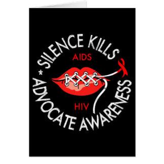 Matanzas del silencio tarjeta de felicitación