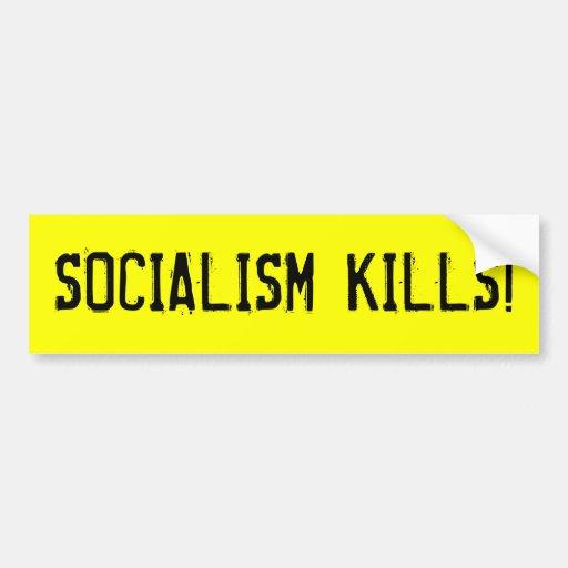 ¡MATANZAS DEL SOCIALISMO! ETIQUETA DE PARACHOQUE
