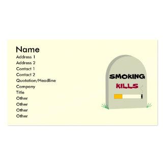 Matanzas que fuman, tarjeta de visita