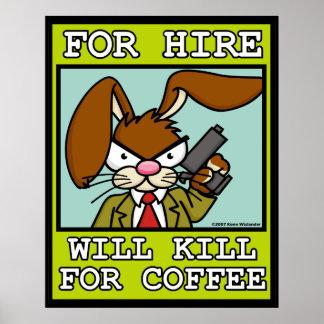 Matará para el poster del café
