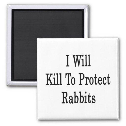 Mataré para proteger conejos iman para frigorífico