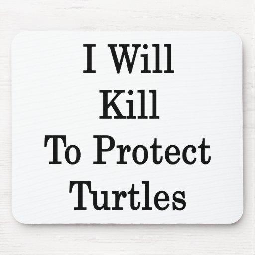 Mataré para proteger tortugas tapetes de ratones